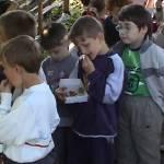 Iskolások látogatása Major Pál csorvási kertjében (1. kép)