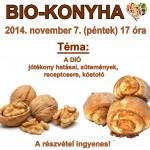 Biokonyha szakkör - A DIÓ jótékony hatásai, sütemények, receptcsere, kóstoló