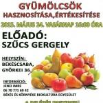 Régi gyümölcsfajták, tündérkertek, tankertek, gyümölcsök hasznosítása, értékesítése